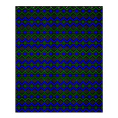 Split Diamond Blue Green Woven Fabric Shower Curtain 60  X 72  (medium)  by Mariart