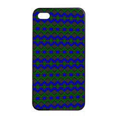 Split Diamond Blue Green Woven Fabric Apple Iphone 4/4s Seamless Case (black) by Mariart