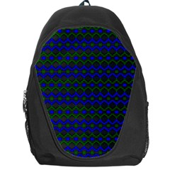 Split Diamond Blue Green Woven Fabric Backpack Bag by Mariart