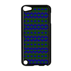 Split Diamond Blue Green Woven Fabric Apple Ipod Touch 5 Case (black) by Mariart
