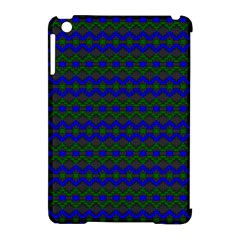 Split Diamond Blue Green Woven Fabric Apple Ipad Mini Hardshell Case (compatible With Smart Cover) by Mariart