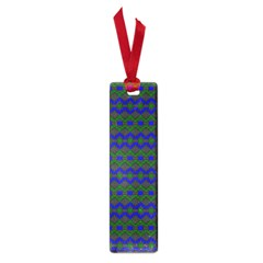 Split Diamond Blue Green Woven Fabric Small Book Marks by Mariart