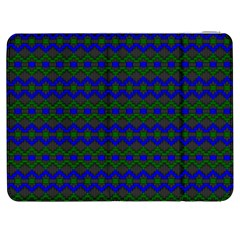 Split Diamond Blue Green Woven Fabric Samsung Galaxy Tab 7  P1000 Flip Case by Mariart