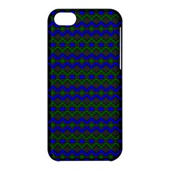 Split Diamond Blue Green Woven Fabric Apple Iphone 5c Hardshell Case by Mariart