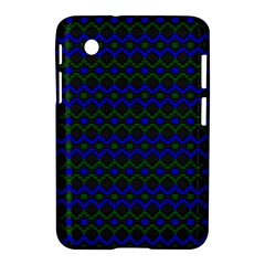 Split Diamond Blue Green Woven Fabric Samsung Galaxy Tab 2 (7 ) P3100 Hardshell Case  by Mariart