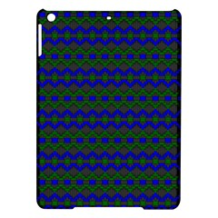 Split Diamond Blue Green Woven Fabric Ipad Air Hardshell Cases by Mariart