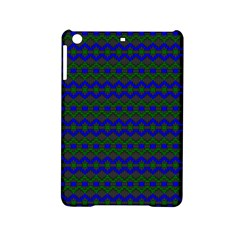 Split Diamond Blue Green Woven Fabric Ipad Mini 2 Hardshell Cases by Mariart