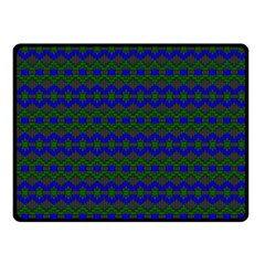 Split Diamond Blue Green Woven Fabric Double Sided Fleece Blanket (small)  by Mariart