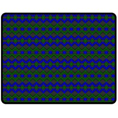 Split Diamond Blue Green Woven Fabric Double Sided Fleece Blanket (medium)  by Mariart