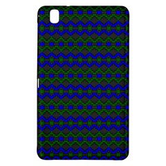 Split Diamond Blue Green Woven Fabric Samsung Galaxy Tab Pro 8 4 Hardshell Case by Mariart