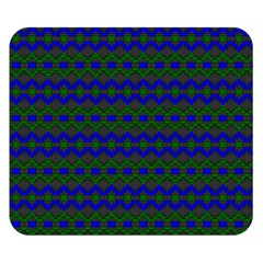 Split Diamond Blue Green Woven Fabric Double Sided Flano Blanket (small)  by Mariart
