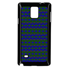 Split Diamond Blue Green Woven Fabric Samsung Galaxy Note 4 Case (black) by Mariart