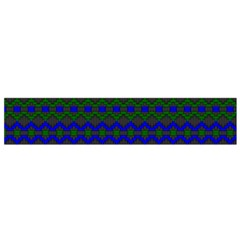Split Diamond Blue Green Woven Fabric Flano Scarf (small) by Mariart