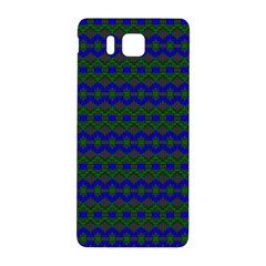 Split Diamond Blue Green Woven Fabric Samsung Galaxy Alpha Hardshell Back Case by Mariart