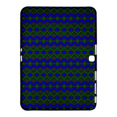 Split Diamond Blue Green Woven Fabric Samsung Galaxy Tab 4 (10 1 ) Hardshell Case  by Mariart