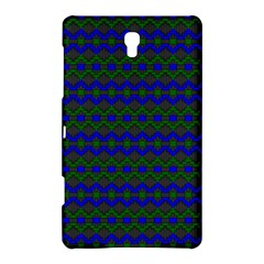 Split Diamond Blue Green Woven Fabric Samsung Galaxy Tab S (8 4 ) Hardshell Case  by Mariart