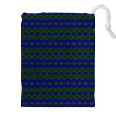 Split Diamond Blue Green Woven Fabric Drawstring Pouches (xxl) by Mariart