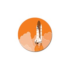 Rocket Space Ship Orange Golf Ball Marker (4 Pack) by Mariart