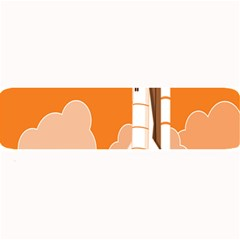 Rocket Space Ship Orange Large Bar Mats by Mariart