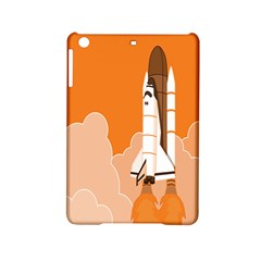 Rocket Space Ship Orange Ipad Mini 2 Hardshell Cases by Mariart
