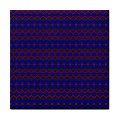 Split Diamond Blue Purple Woven Fabric Tile Coasters by Mariart