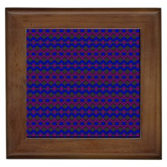 Split Diamond Blue Purple Woven Fabric Framed Tiles by Mariart