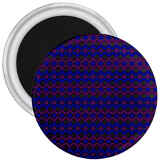 Split Diamond Blue Purple Woven Fabric 3  Magnets by Mariart