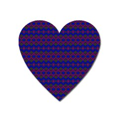 Split Diamond Blue Purple Woven Fabric Heart Magnet by Mariart
