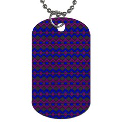 Split Diamond Blue Purple Woven Fabric Dog Tag (two Sides) by Mariart