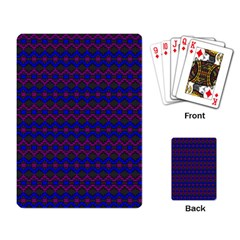 Split Diamond Blue Purple Woven Fabric Playing Card by Mariart