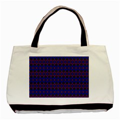 Split Diamond Blue Purple Woven Fabric Basic Tote Bag by Mariart
