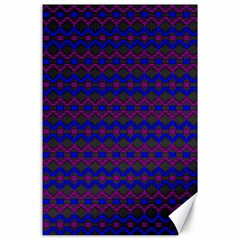 Split Diamond Blue Purple Woven Fabric Canvas 24  X 36  by Mariart