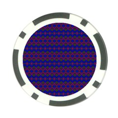 Split Diamond Blue Purple Woven Fabric Poker Chip Card Guard by Mariart