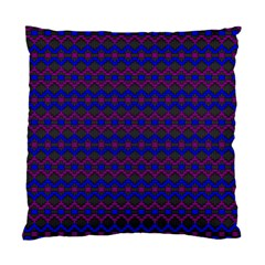 Split Diamond Blue Purple Woven Fabric Standard Cushion Case (two Sides) by Mariart