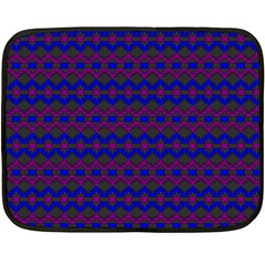Split Diamond Blue Purple Woven Fabric Fleece Blanket (mini) by Mariart