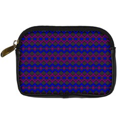 Split Diamond Blue Purple Woven Fabric Digital Camera Cases by Mariart