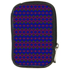 Split Diamond Blue Purple Woven Fabric Compact Camera Cases by Mariart