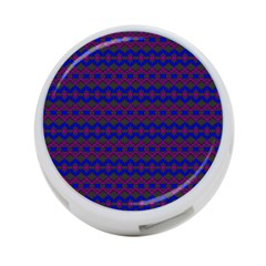 Split Diamond Blue Purple Woven Fabric 4 Port Usb Hub (one Side) by Mariart