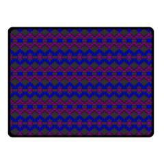 Split Diamond Blue Purple Woven Fabric Fleece Blanket (small) by Mariart