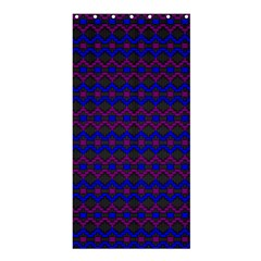 Split Diamond Blue Purple Woven Fabric Shower Curtain 36  X 72  (stall)  by Mariart