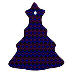 Split Diamond Blue Purple Woven Fabric Ornament (christmas Tree)  by Mariart