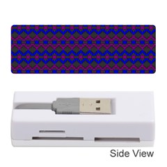 Split Diamond Blue Purple Woven Fabric Memory Card Reader (stick)  by Mariart