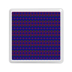 Split Diamond Blue Purple Woven Fabric Memory Card Reader (square)  by Mariart