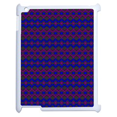 Split Diamond Blue Purple Woven Fabric Apple Ipad 2 Case (white) by Mariart