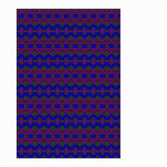 Split Diamond Blue Purple Woven Fabric Small Garden Flag (two Sides) by Mariart