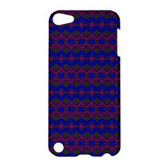 Split Diamond Blue Purple Woven Fabric Apple Ipod Touch 5 Hardshell Case by Mariart