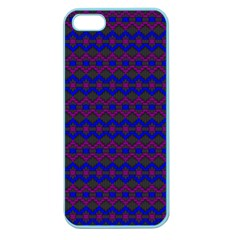 Split Diamond Blue Purple Woven Fabric Apple Seamless Iphone 5 Case (color) by Mariart