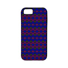 Split Diamond Blue Purple Woven Fabric Apple Iphone 5 Classic Hardshell Case (pc+silicone) by Mariart
