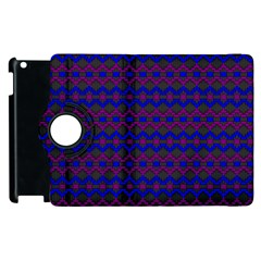 Split Diamond Blue Purple Woven Fabric Apple Ipad 3/4 Flip 360 Case by Mariart