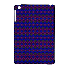Split Diamond Blue Purple Woven Fabric Apple Ipad Mini Hardshell Case (compatible With Smart Cover) by Mariart